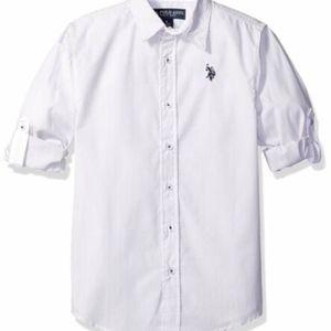 Us Polo Assn. Children's Apparel White Stripped